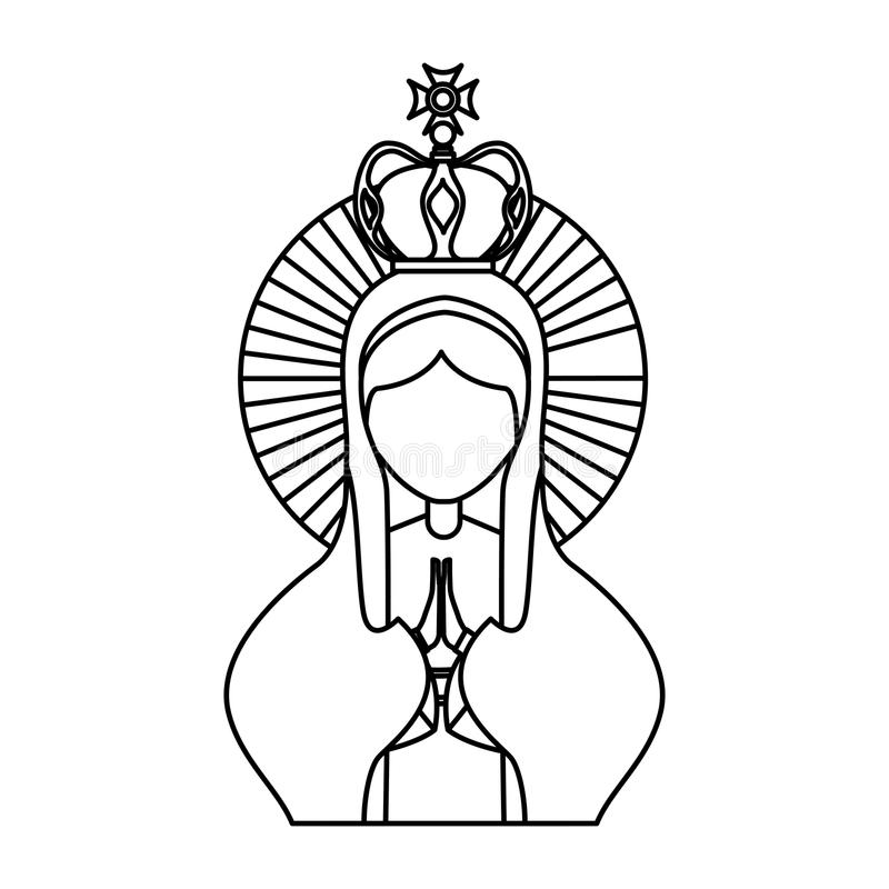 Helig jungfruliga mary symbol vektor illustrationer
