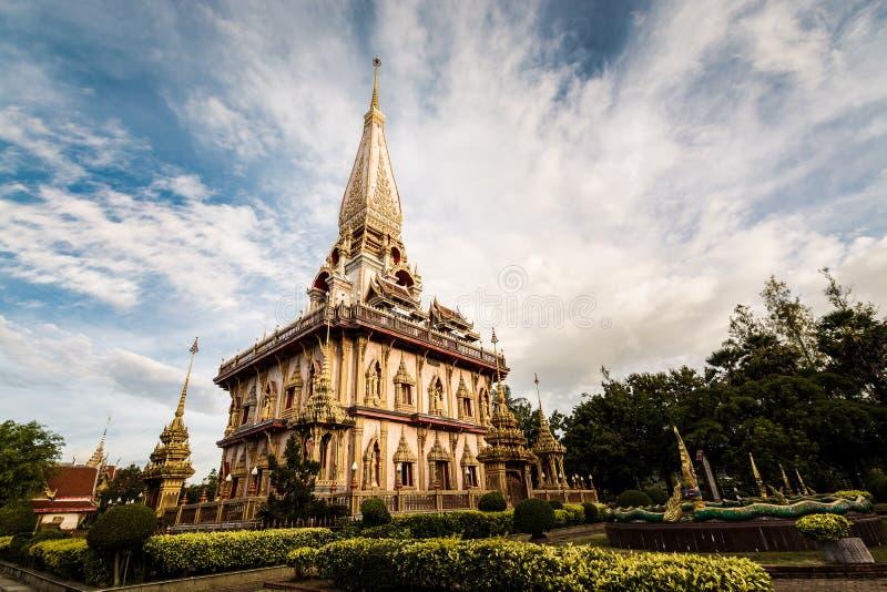 Helig pagod i chalongtempel arkivfoton