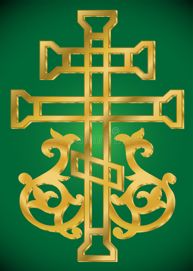 helig prydnad för kristet kors royaltyfri illustrationer