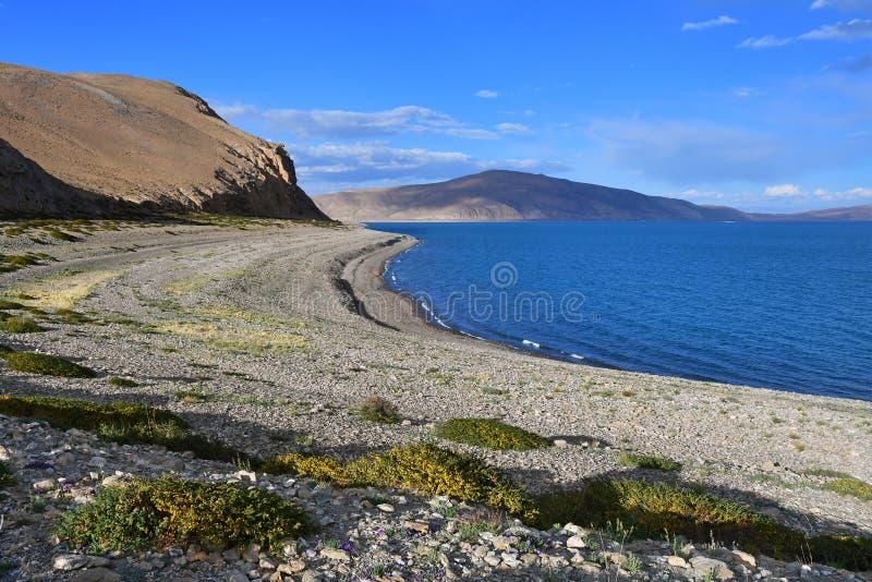 Helig Rakshas Tal sjö i Ngari, västra Tibet, Kina Denna sjö också som är bekant som demon sjön, Ravana Tal eller arkivbilder