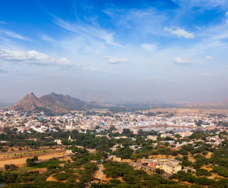 Helig stad Pushkar. Rajasthan Indien royaltyfri fotografi