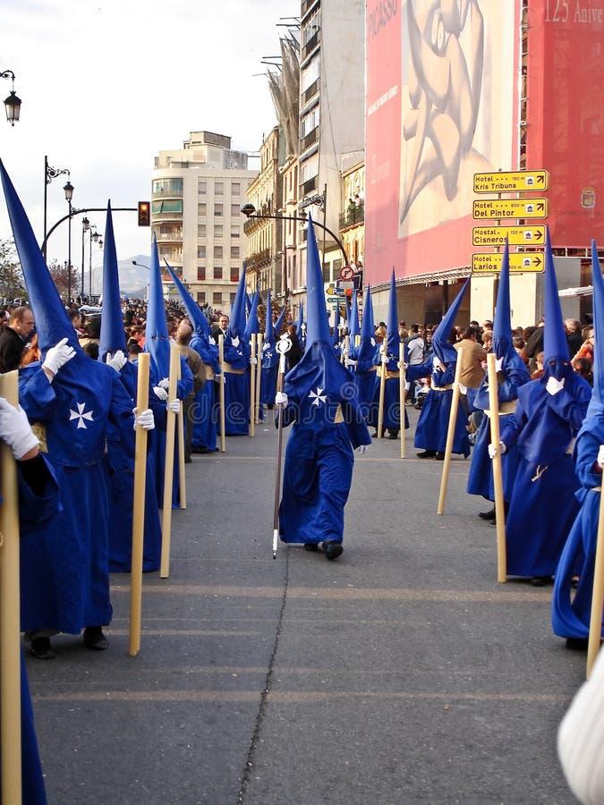 helig vecka för processionsanta semana arkivfoto