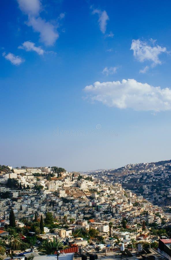 Heliga landserien - östra Jerusalem Al Quds - Silwan Village 3 royaltyfri fotografi
