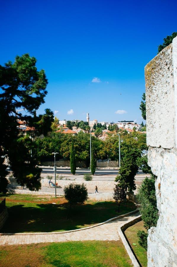 Heliga landserien - Jerusalem Al Quds - det italienska sjukhuset arkivfoton