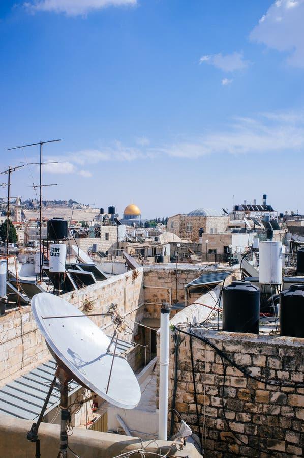 Heliga landserien - Jerusalem Old City Al Quds- Al Aqsa arkivfoton