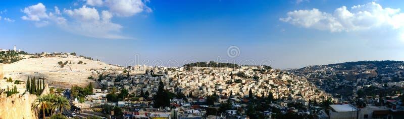 Heliga landserien - Jerusalem Old City - Mt Oliver 2 arkivfoton