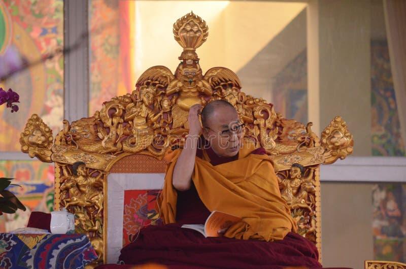 Helighet Dalai Lama i Bodhgaya, Indien royaltyfria bilder