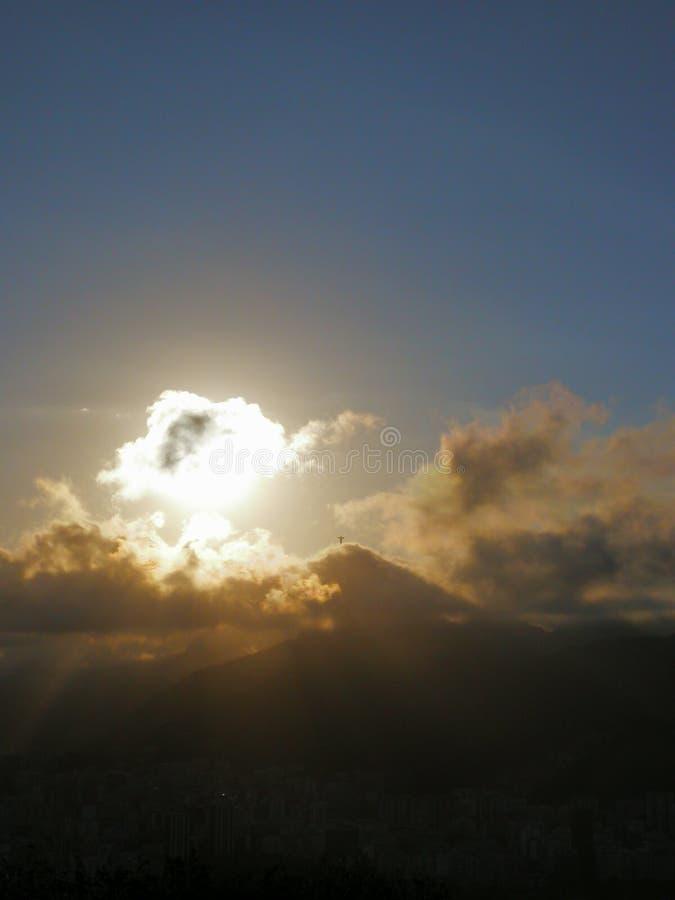 Heligt ljus från Rig de Janeiro royaltyfri bild