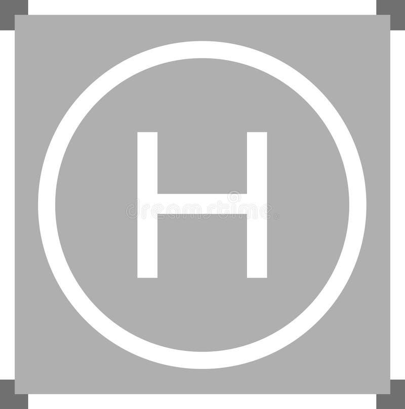 Helihaven in grijze kleur royalty-vrije illustratie