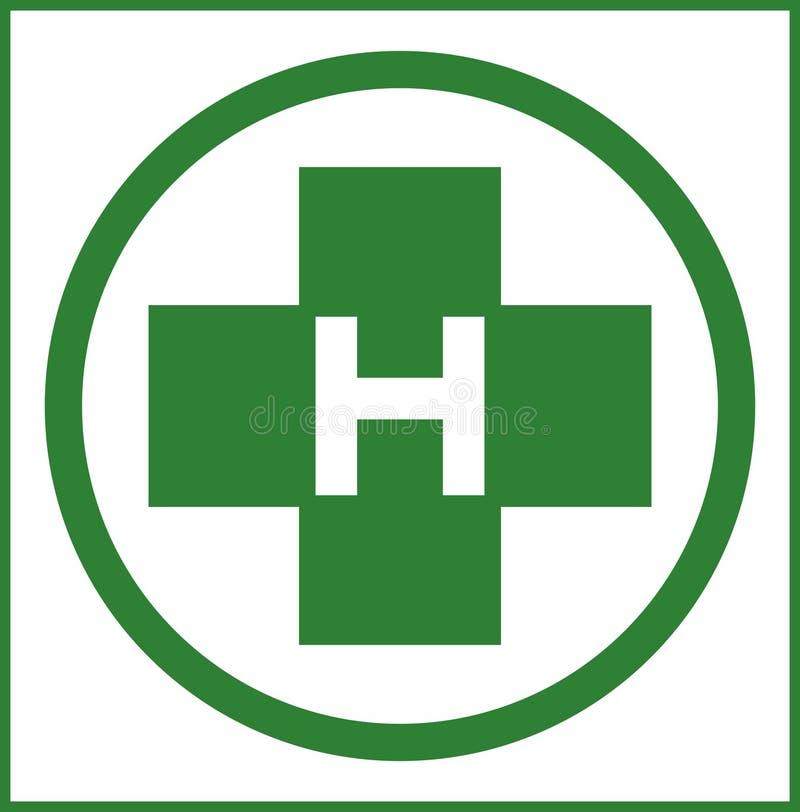Helihaven in groene kleur royalty-vrije illustratie