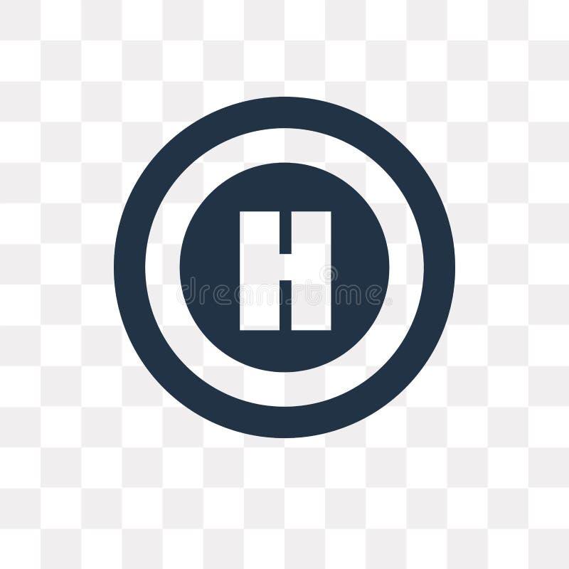 Helihaven vectordiepictogram op transparante achtergrond, Helihaven wordt geïsoleerd stock illustratie