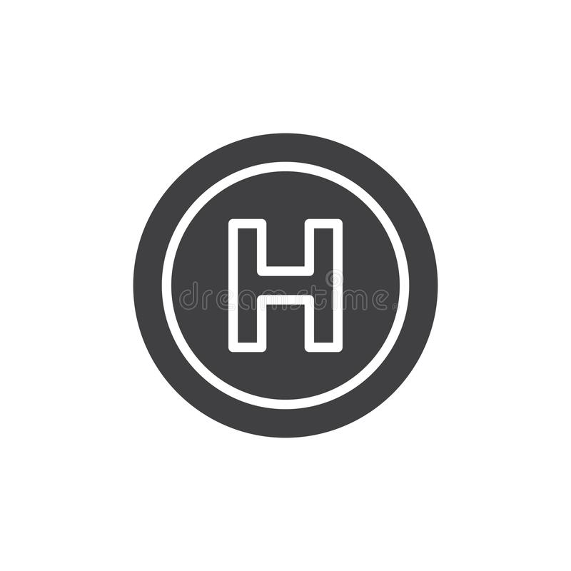 Helihaven vectorpictogram royalty-vrije illustratie