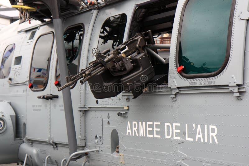 helikopter armatnia maszyna zdjęcia stock