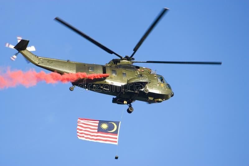 helikopter bandery zdjęcia stock