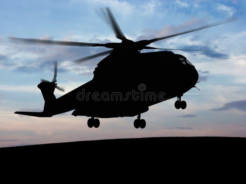helikopter do nieba obraz royalty free