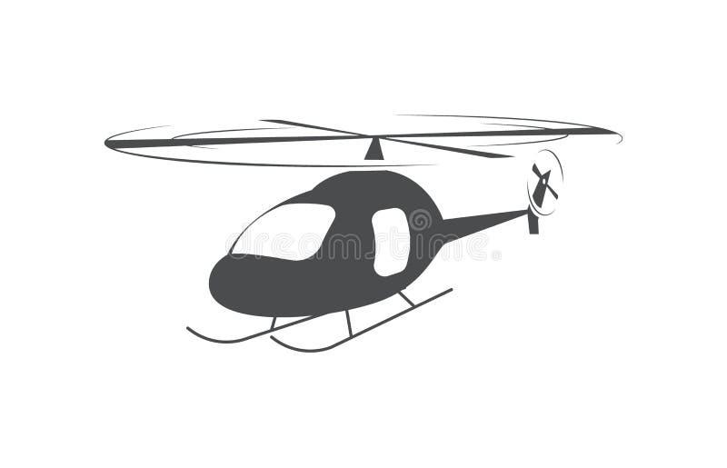 Helikopter flygtransport, flyg- medelsymbol royaltyfri illustrationer