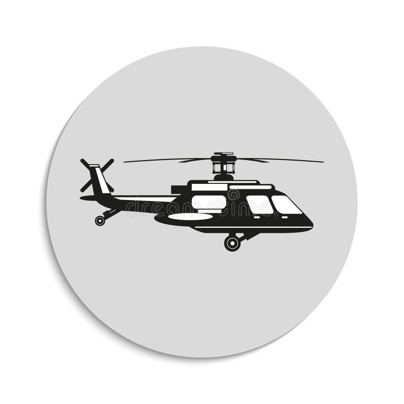 helikopter gears symbolen royaltyfri illustrationer