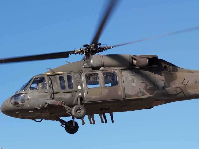 Helikopter met voeten royalty-vrije stock foto's