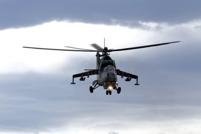 Helikopter mi-24 stock foto's