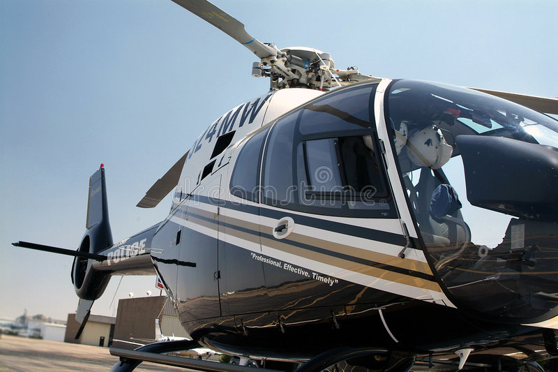 helikopter na policję zdjęcia royalty free