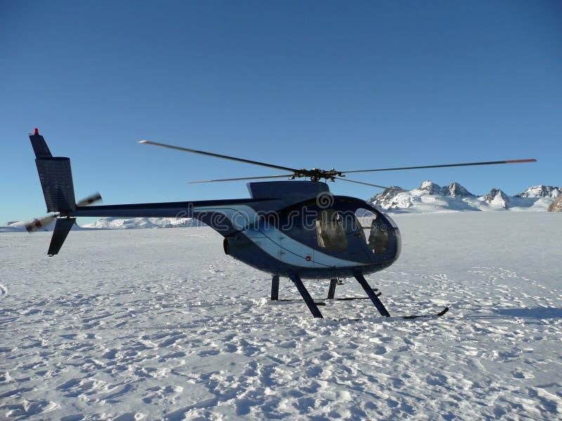 Helikopter op MT Cook royalty-vrije stock foto's
