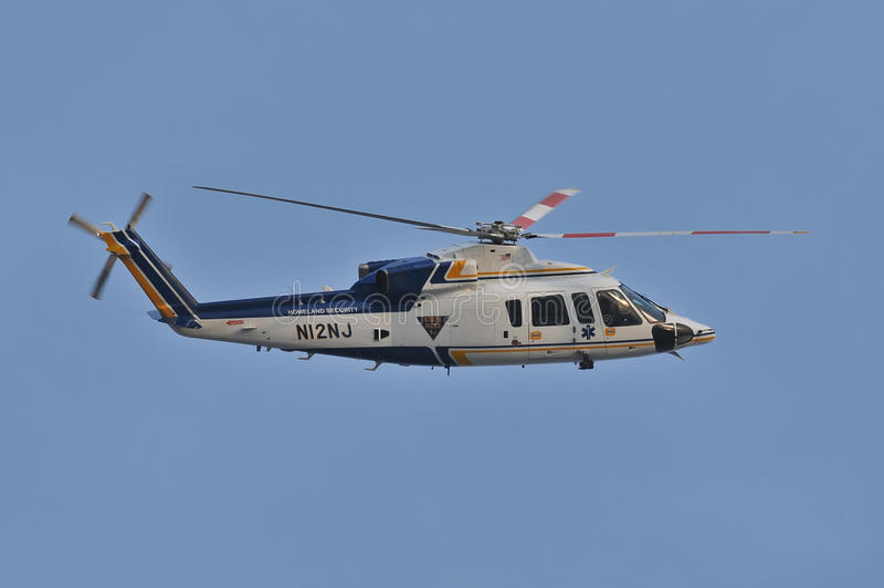 helikopter policja obraz royalty free