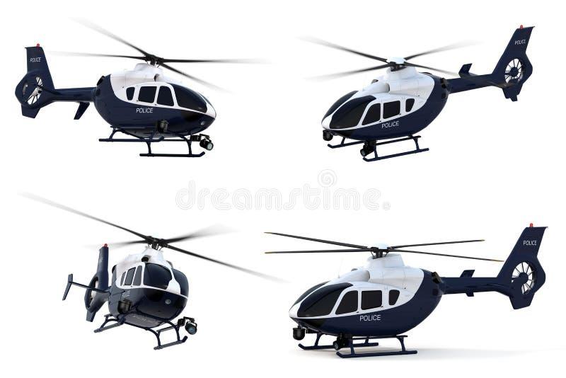 Helikopter Policyjny royalty ilustracja