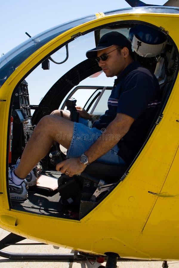 Helikopter proef stock foto