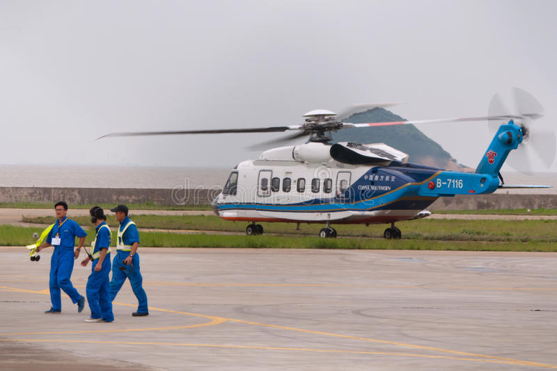 Helikopter S-76 royaltyfri foto
