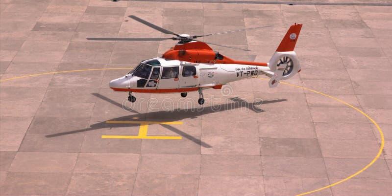 Helikopter som en taxa royaltyfri fotografi