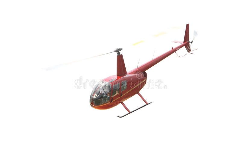 helikopter som isoleras över röd white royaltyfria bilder