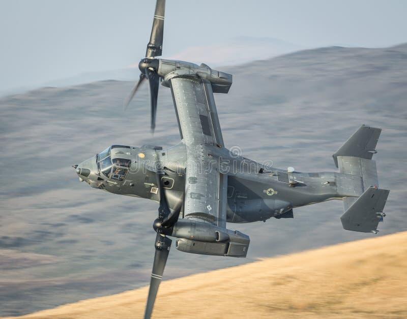 Helikopter V22 för fiskgjuse CV22 arkivfoton