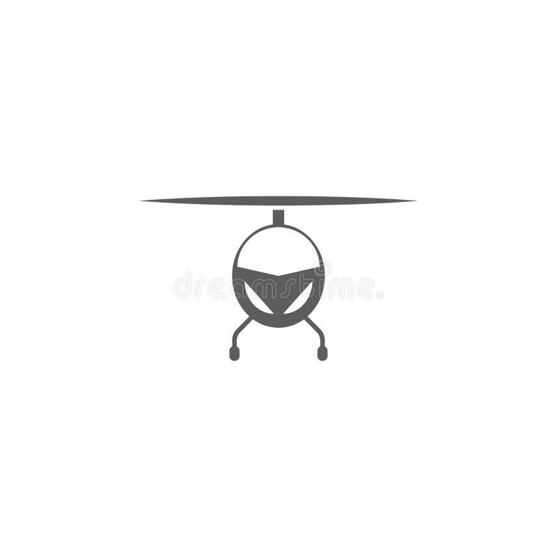 Helikopter van het voorpictogram Elementen van een gecontroleerd vliegtuigenpictogram Het grafische ontwerp van de premiekwalitei vector illustratie