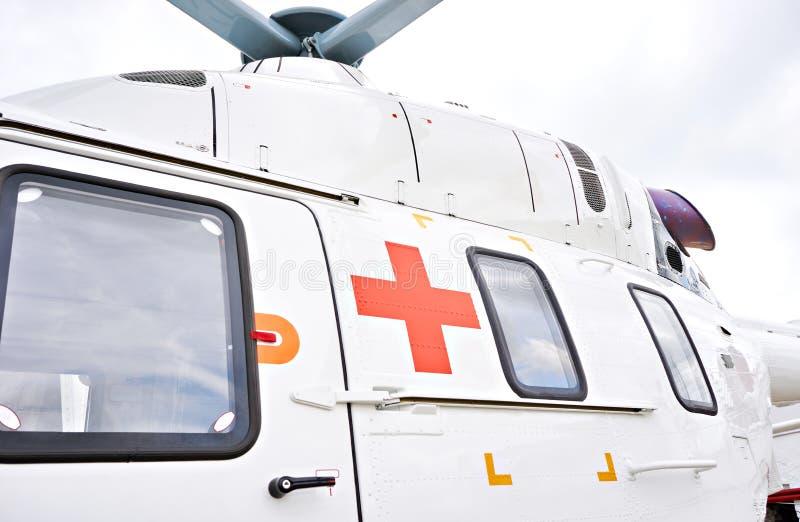 Helikopter voor medische ziekenwagen stock foto's
