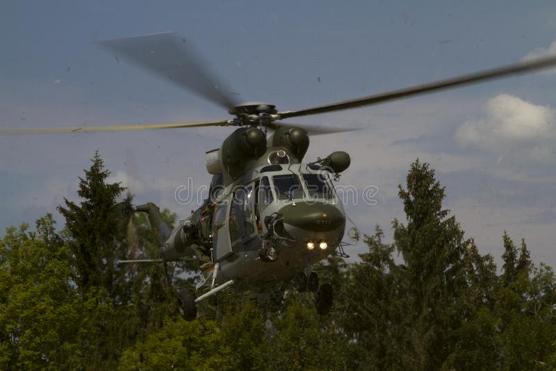 Helikopter w-3A Sokol stock fotografie