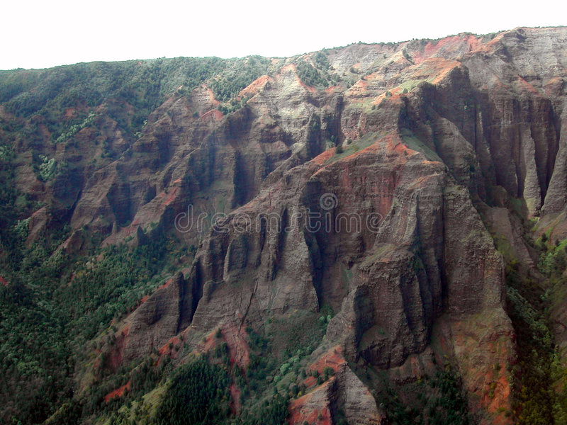 helikopter waimea canyon obraz royalty free