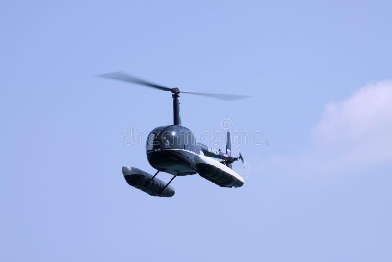 Helikopter z pławikami obraz stock