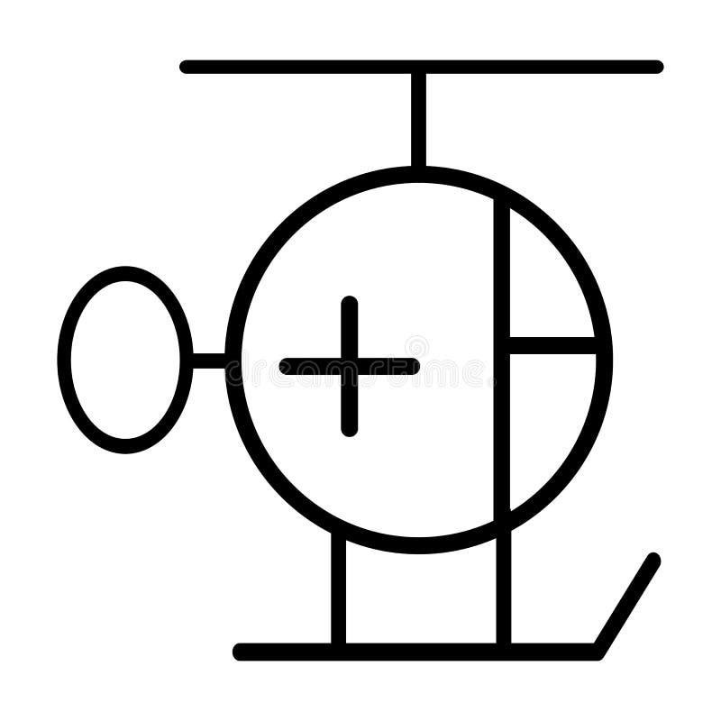 Helikopterambulanslinje symbol Enkel Pictogram 96x96 för vektor stock illustrationer