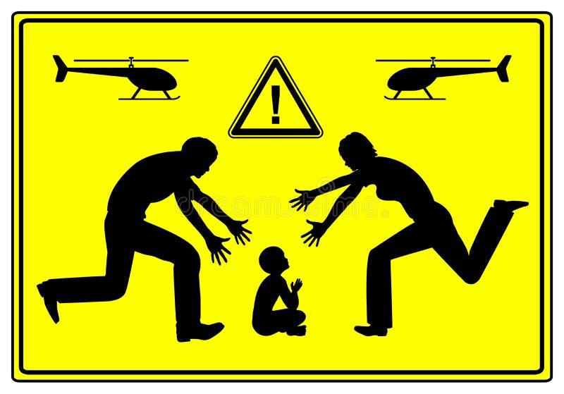 Helikopterföräldrar vektor illustrationer