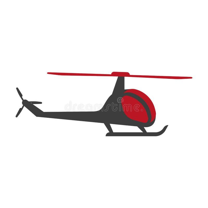 Helikopterflygflygplan som transporterar, avbrytare isolerade symbolsvektorn vektor illustrationer