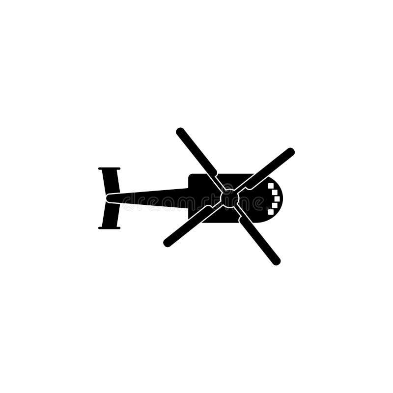 helikopterkontursymbol Beståndsdel av flygtransportsymbolen Högvärdig kvalitets- symbol för grafisk design Tecken och symbolsamli royaltyfri illustrationer
