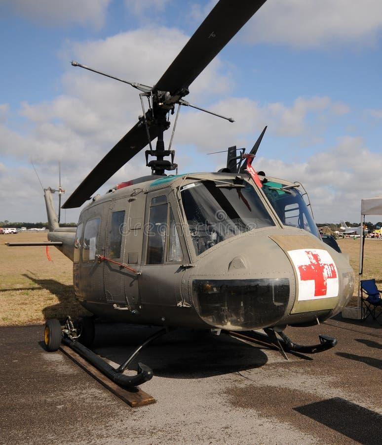 helikopterläkarundersökning fotografering för bildbyråer