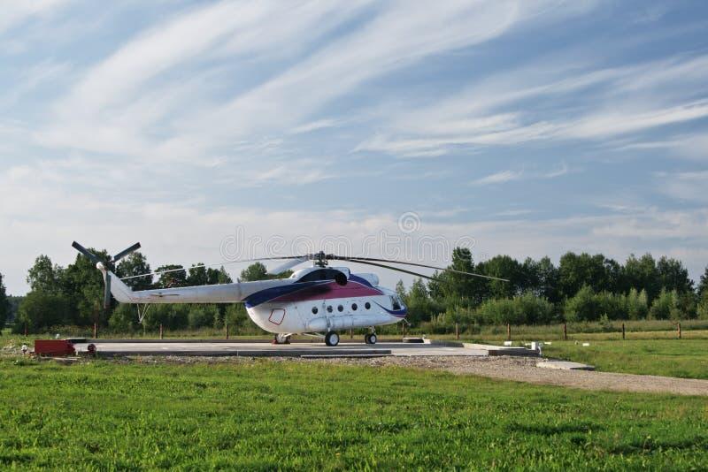 helikopterlanseringsplattform royaltyfri foto