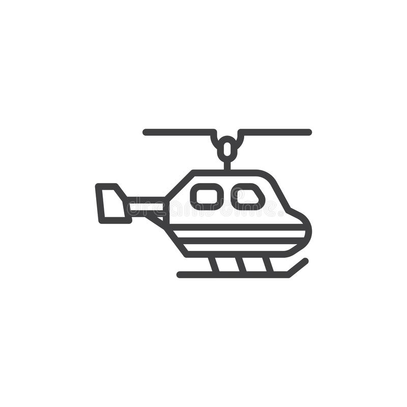 Helikopterlinje symbol stock illustrationer