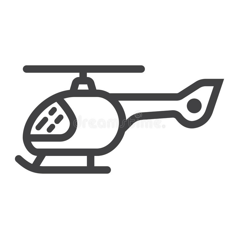Helikopterlinje symbol, transport och luftmedel stock illustrationer