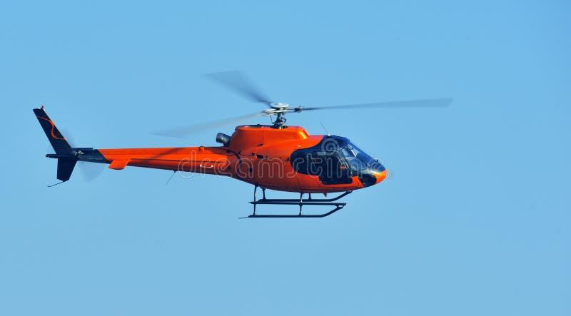 helikopterorange royaltyfri fotografi