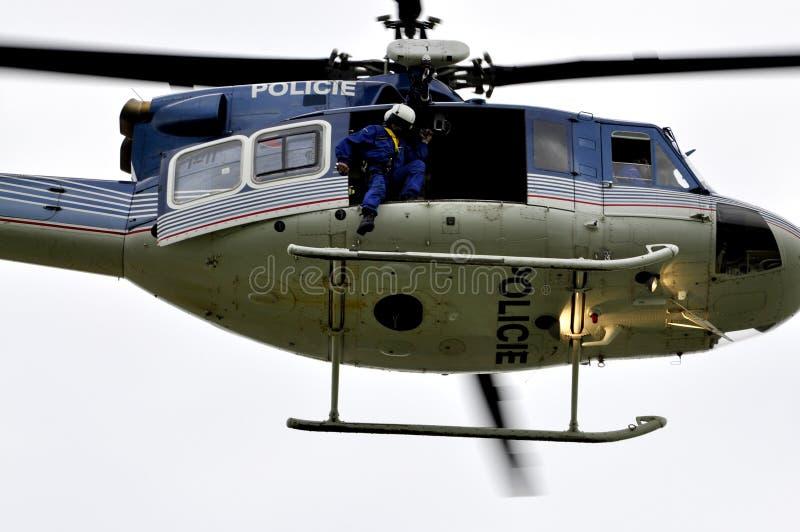 helikopterpatrullpolis arkivfoto
