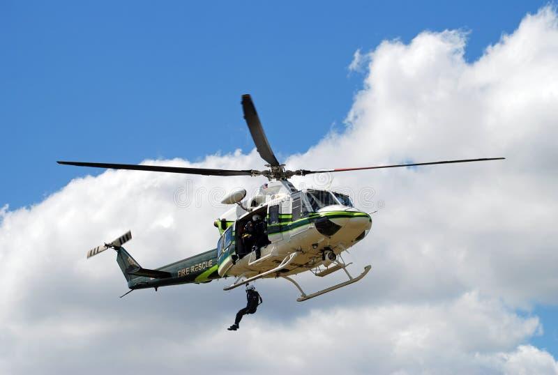 helikopterräddningsaktion royaltyfri fotografi