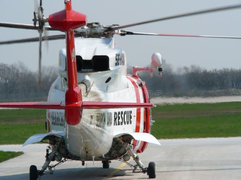 helikopterräddningsaktion royaltyfri bild