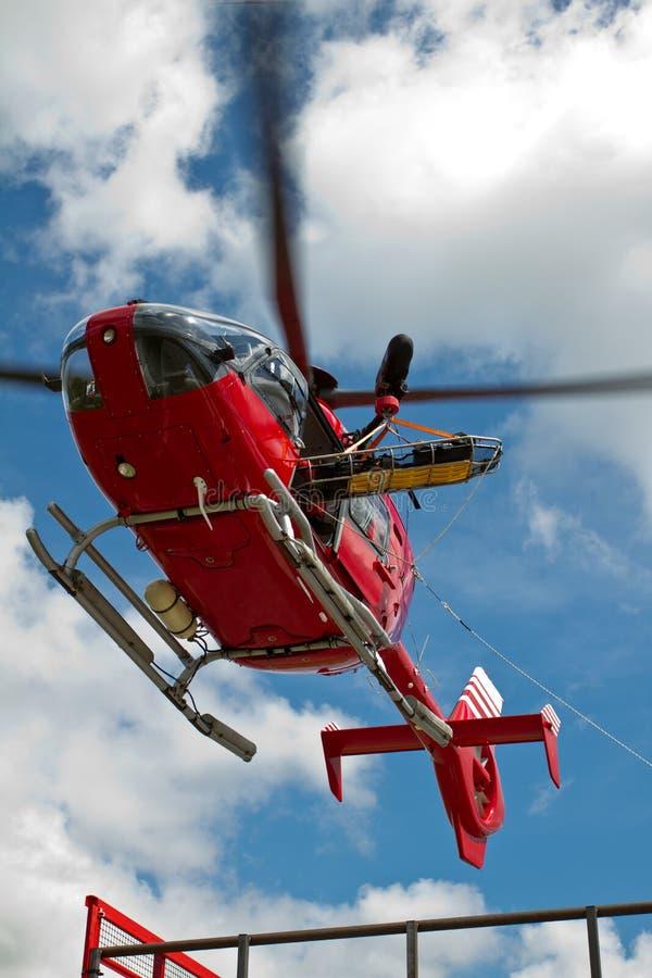 helikopterräddningsaktion royaltyfria foton